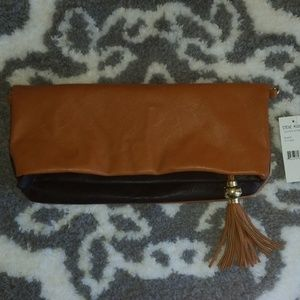 NWT Steve Madden Reversible Clutch with Tassel
